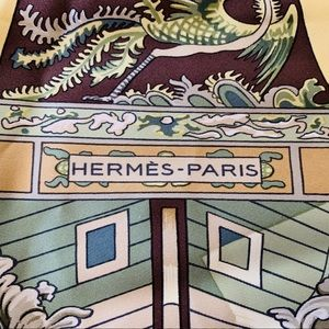 """Hermes scarf """"Jonques et Sampans"""" *offers welcome*"""